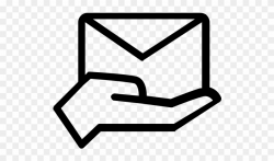 Envelope Rubber Stamp - Message Icon Png Clipart (#814420 ...