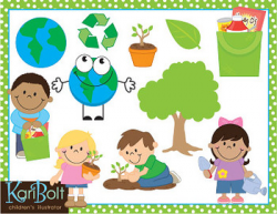 Earth Day Recycling and Environment Clip Art Combo by Kari Bolt Clip Art