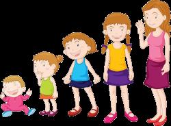 Physical development in children clipart