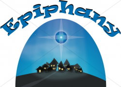 Epiphany Over the Town Of Bethlehem | Epiphany Clipart