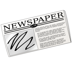 Newspaper Drawing at GetDrawings.com | Free for personal use ...