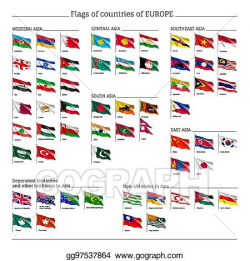Vector Stock - Big set of flags of europe. Clipart ...