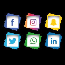Social Media Icons Set Facebook Instagram Whatsapp, Social, Media ...