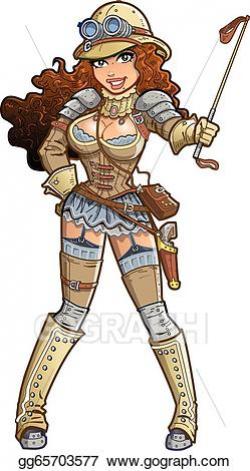 Vector Stock - Sexy steampunk explorer. Stock Clip Art ...