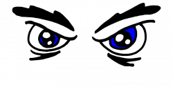 Clipart - Angry Blue Eyes