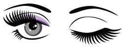 Eyes with eyelashes clipart - Clip Art Library