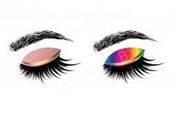 Instant Download, Lash Clipart, 2 X lashes clip art, instant ...