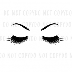 Eyelashes and Eyebrows SVG Bundle Cut File, Modern Anastasia Eyebrows Svg,  Dxf, Eps, Jpg, Png for Cricut, Silhouette, Clipart, Unicorn Lash