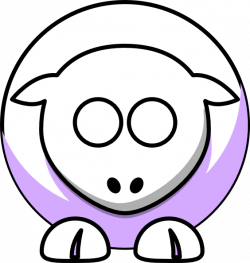 Sheep - White On Lilac No Eyes Clip Art at Clker.com - vector clip ...