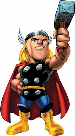 Marvel super hero squad thor clipart png - Clipartix