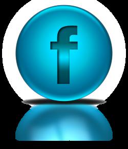 Blue Metallic Orb Icon Social Media Logos Facebook Logo