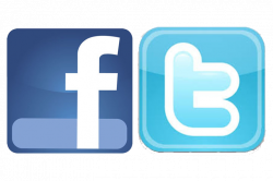 Facebook Logo And Twitter Logo Png Transparent
