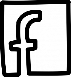 Facebook Letter Logo In A Square Hand Drawn Outline Svg Png Icon ...