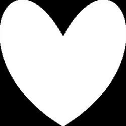 White Heart Clip Art at Clker.com - vector clip art online, royalty ...