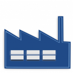 Factory | Free Stock Photo | Illustration of a blue factory | # 15356