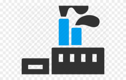 Industrial Clipart Factory Symbol - Factory Icon Transparent ...