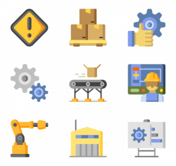 27 manufacturing factory icon packs - Vector icon packs - SVG, PSD ...
