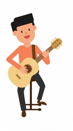 Man Playing Guitar Sitting | Pinterest | Playing guitar and Animation