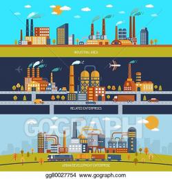 EPS Vector - Factory banner set. Stock Clipart Illustration ...