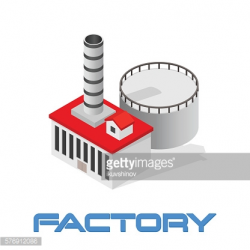 Vector Isometric Modern Industrial and Manufacturing Factory ...