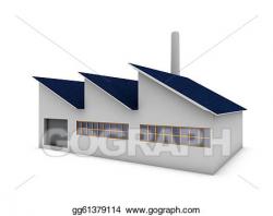 Stock Illustration - Modern factory. Clipart gg61379114 ...