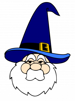 Clipart - Wizard in blue hat