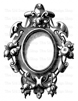 Vintage Clip Art Frame 2 Fairy Tale Snow White Mirror ...