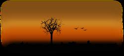 Clipart - fall silhouette
