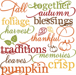 Fall Words Set SVG autumn svg file svg files for scrapbooking cute ...