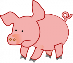 Fat Pig 2 Clip Art at Clker.com - vector clip art online, royalty ...