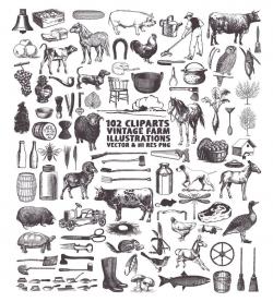 Farm Clipart, Farmers Market Clipart, Cooking Clipart, Food Clipart,  Kitchen Clipart Clip art PNG Vector EPS, AI Design Elements Download