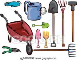 EPS Illustration - Farm garden tools elements illustration ...