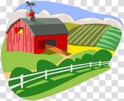 Red and white tool shed illustration, Cattle Farm Pen Barn ...