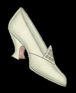 Antique Images Free Shoe Clip Art Image Of 1917 Women S Shoe Fashion ...