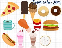 Fast Food Clipart ~ Illustrations ~ Creative Market