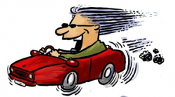 Driving Fast Clipart