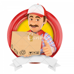 3D Logo. Courier Service - Photos by Canva