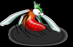 Clipart - fat blood-drunken mosquito
