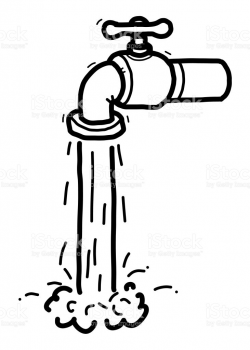 Download water faucet black and white clipart Faucet Handles ...