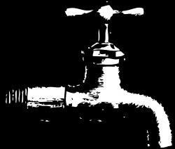 clipartist.net » Clip Art » Faucet 1 Black White Line Art Svg