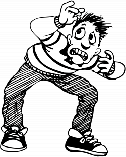 28+ Collection of Scared Clipart Black And White | High quality ...