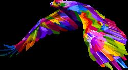 Clipart - Prismatic Geometric Eagle