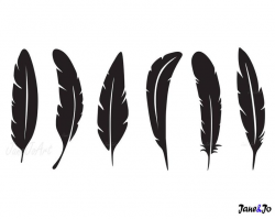 Feather SVG, Feathers SVG, Feather Clipart, cricut, Feather silhouette  files , SVG Feathers,commercial use,Boho Feathers svg, Feather vector