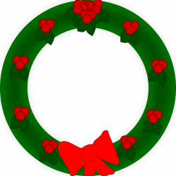 Clipart - Holiday Wreath
