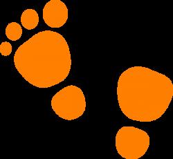 Orange Feet Clip Art at Clker.com - vector clip art online, royalty ...