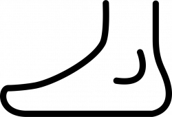 Foot Side View Outline Svg Png Icon Free Download (#43059 ...