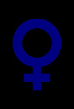Clipart - female gender symbol