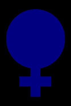 Clipart - female gender symbol filled