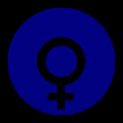 Clipart - female gender symbol in a circle