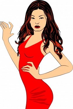 Free photo: Girl in Red - pose, red, human - Creative Commons - CC0 ...
